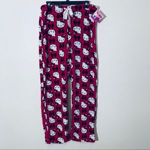 Fleece Hello Kitty Pajama Pants New With Tags L